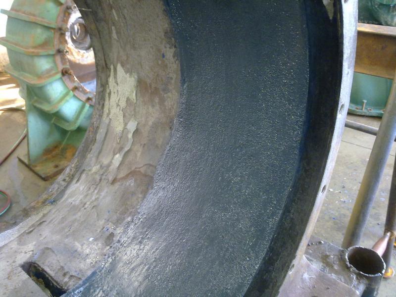 Recuperação de bomba com revestimento cerâmico