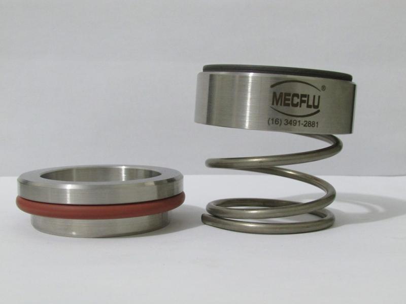 Selo mecânico mola única